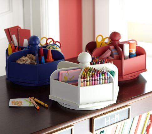 Lazy susan modern kids decor by pottery barn kids - Lazy susan desk organizer ...