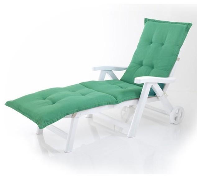 Matelas de jardin bicolore sp cial bain de soleil for Matelas chaise longue jardin