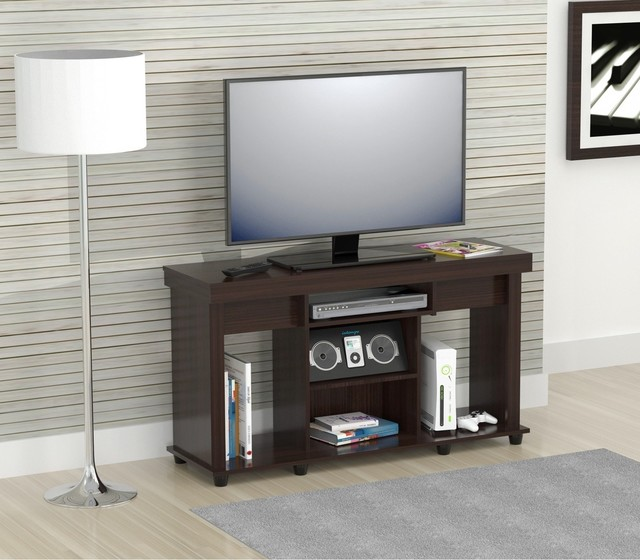 inval 50 inch flat panel tv stand contemporary entertainment centers and tv stands by. Black Bedroom Furniture Sets. Home Design Ideas