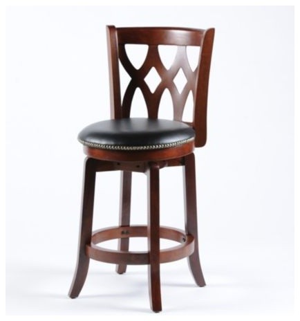 Cathedral counter stool traditional bar stools and - Traditional kitchen bar stools ...