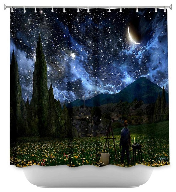 shower curtain unique from dianoche designs starry night