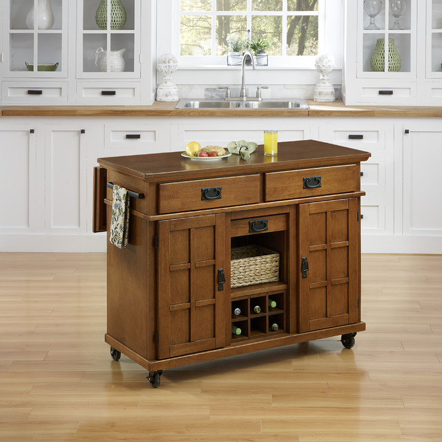 Arts and crafts kitchen cart contemporary kitchen islands and kitchen carts by - Overstock kitchen islands ...