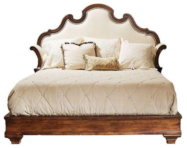 Century eastern king upholstered bedframe 8299 est for Est living room sets