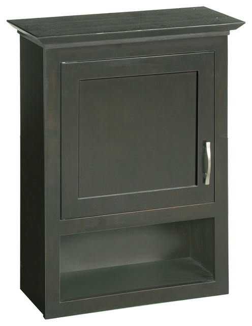 Ventura Espresso Cabinet - Traditional - Bathroom Cabinets And Shelves - by Design House