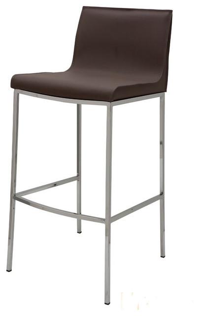Colter Mink Leather Bar Stool By Nuevo Hgar284 Modern