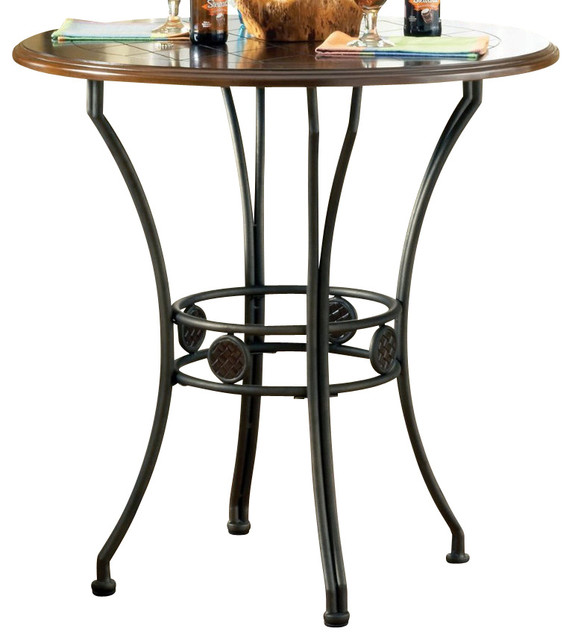 Steve Silver Wimberly 36 Inch Round Counter Height Table Contemporary Dining Tables By