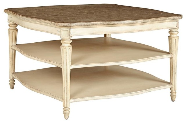 European Cottage Cocktail Table Traditional Coffee Tables By Custom Furniture World