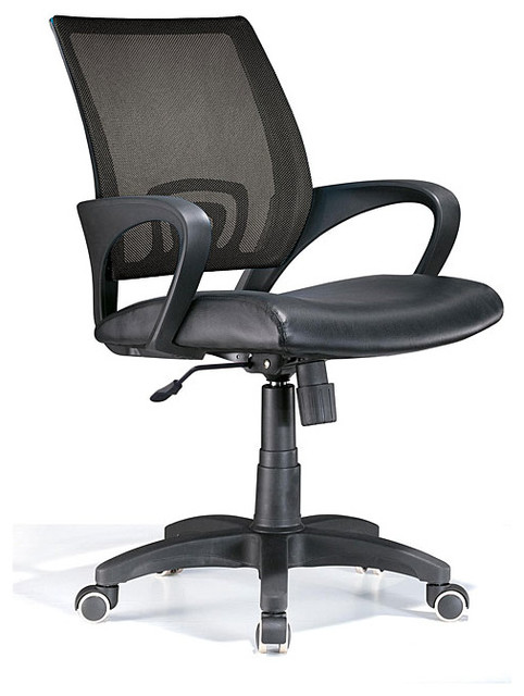 Leatherette Black Office Chair Contemporary Office Chairs By