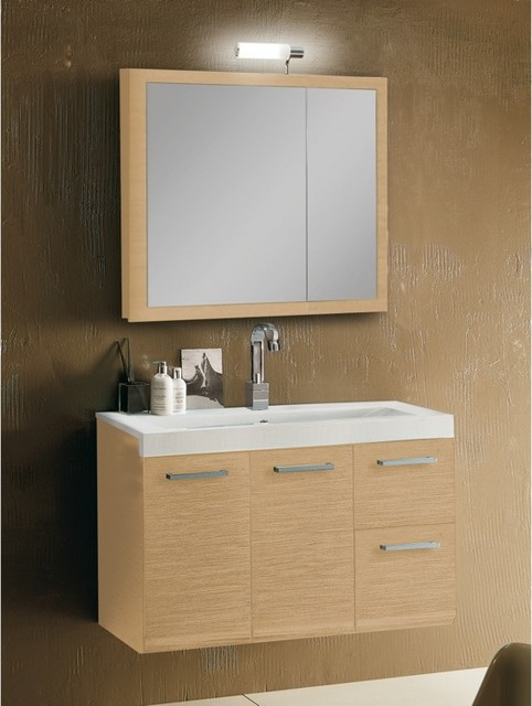 Complete vanity set in three finishes contemporary Complete bathroom vanity