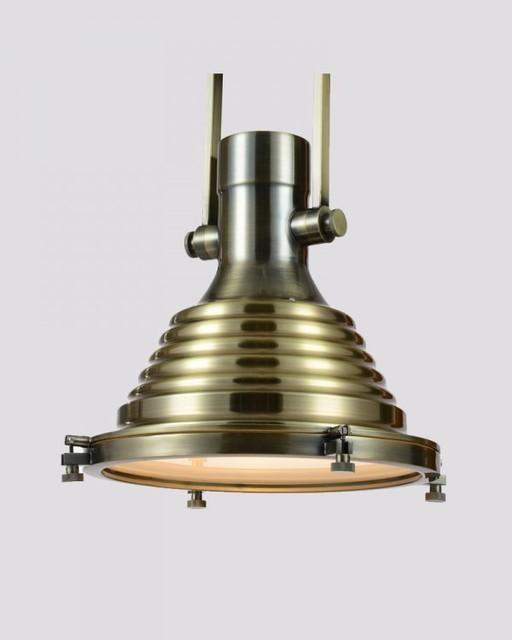 Industrial Brass Hanging Pendant Light Iron Chrome Finish