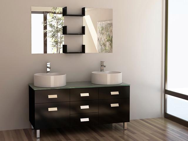 55 Wellington Double Sink Vanity Dec350 Modern