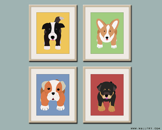 Dog Prints by Wall Art for Small Fry contemporary-kids-decor