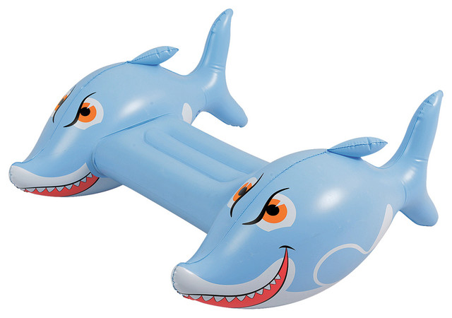 Shark Toys And Games : Shark kickboard pool toy with repair patch kids toys and