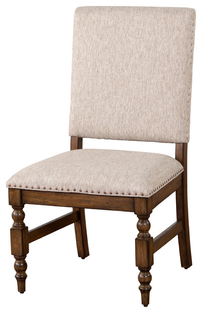Savannah Nailhead Chair With Cushion Traditional