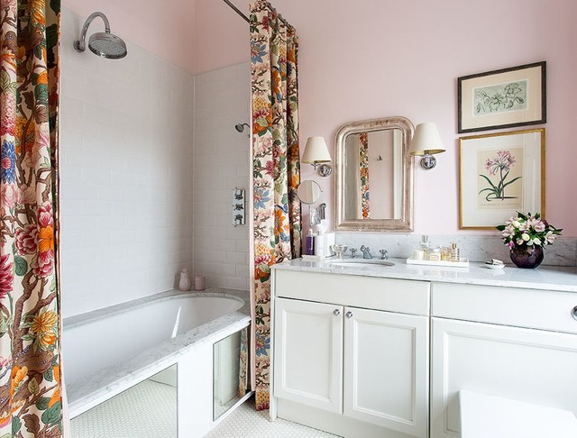 Designer Shower Curtain Ideas 1000 images about home hall bath tub on pinterest tubs tub surround and whirlpool tub Double Shower Curtain Home Design Photos