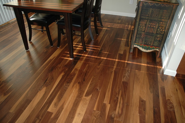 Dark Stain Hickory Floors