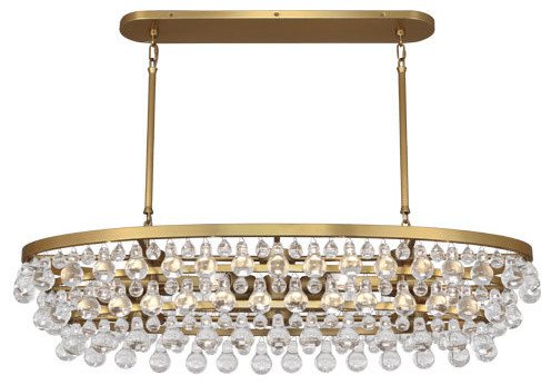 Robert Abbey Bling Oval Chandelier Antique Brass