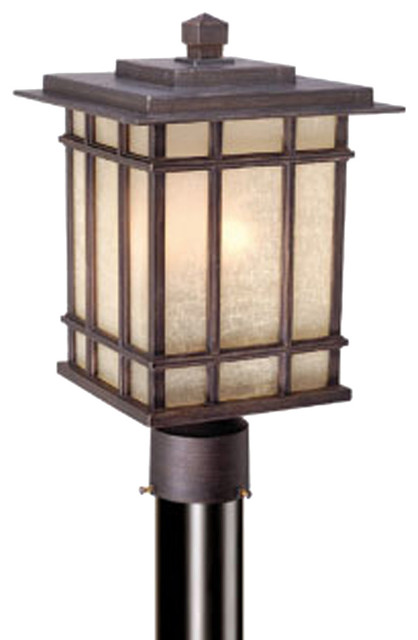 Vaxcel Manor House 9 Outdoor Post Light Asian Post