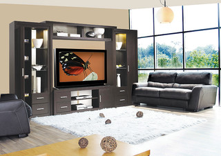 Chrystie Entertainment Center Wall Unit Modern Furniture New York By