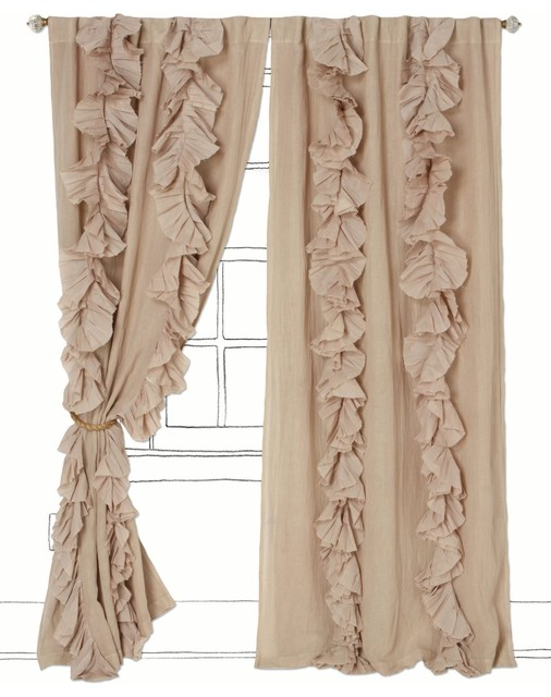 Wandering Pleats Curtain, Neutral - Contemporary - Curtains - by ...