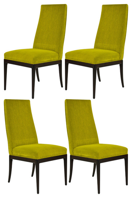 Green upholstered dining chairs baker furniture dining chairs