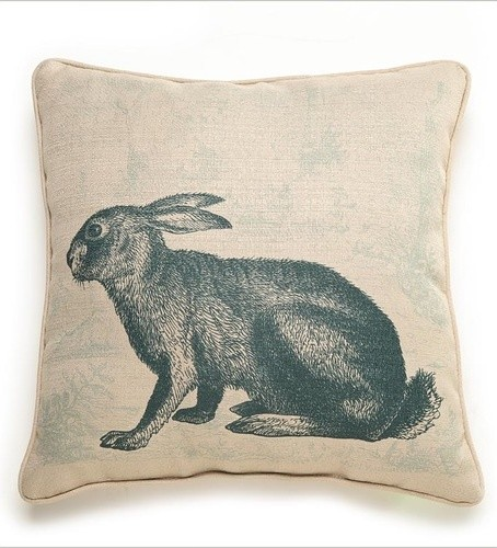 Rabbit Etching Pillow - Modern - Decorative Pillows
