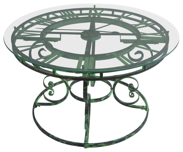 Uttermost Gilbertine Clock Table Traditional Side