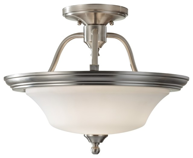 Cumberland semi flush mount modern flush mount ceiling for Semi flush mount lighting modern