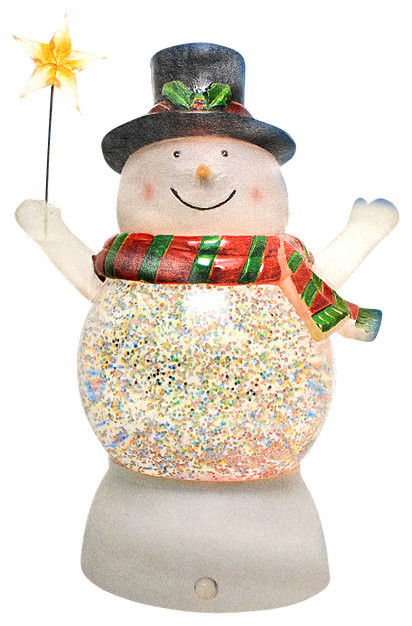 Battery Operated LED Lighted Color-Changing Snowman ...