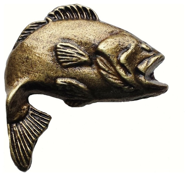 Big Bass 2 Cabinet Knob - Rustic - Cabinet And Drawer Knobs - by Buck Snort Lodge Products