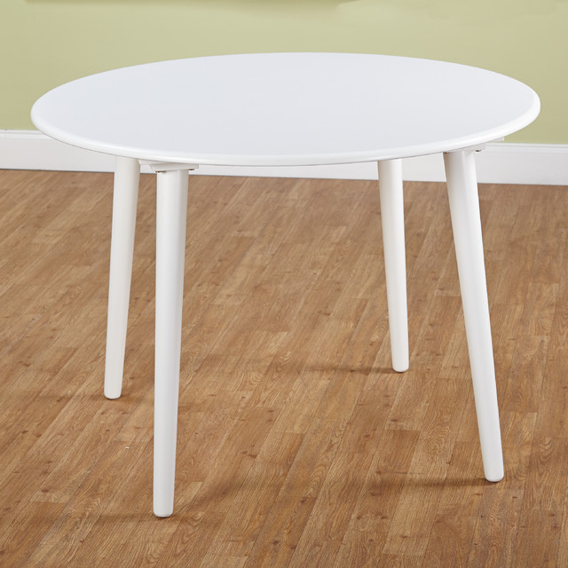 simple living white florence dining table contemporary dining tables
