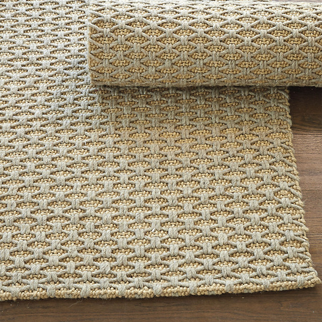 Lattice Knot Wool Amp Jute Rug Traditional Rugs By