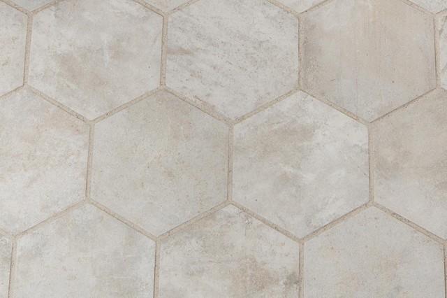 Piastrelle in ceramica esagonali manoir beige 18 2x21 - Piastrelle esagonali bagno ...