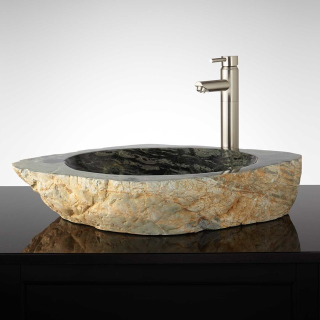 Natural Stone Sinks Bathroom : Zakuro Natural Stone Vessel Sink - Traditional - Bathroom Sinks - by ...