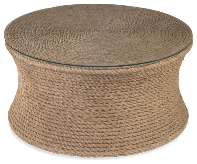 Beach Chic Coffee Table: Sampson Round Cocktail Table