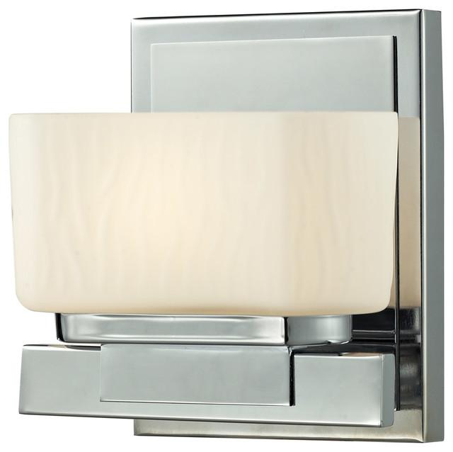 Contemporary Chrome Vanity Lights : Gaia 1 Light Bathroom Vanity Lights in Chrome - Contemporary - Bathroom Vanity Lighting - by ...