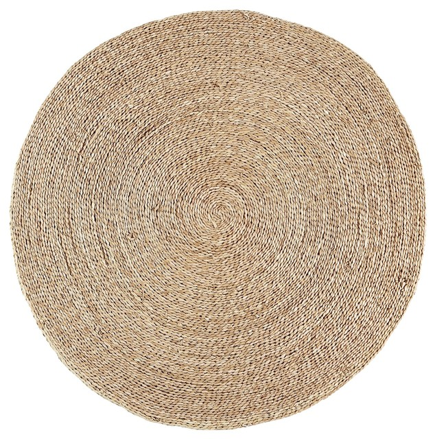 rush tapis rond en jonc de mer tropical area rugs by. Black Bedroom Furniture Sets. Home Design Ideas