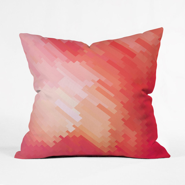 Throw Pillows Coral : Fade to Coral Throw Pillow contemporary-decorative-pillows