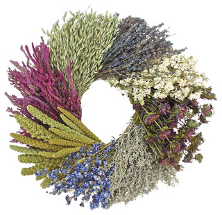 Dried Flower Wheel Wreath