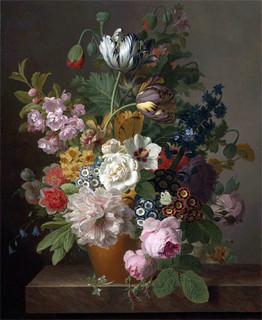 Still Life Of Flowers Jan Frans Van Dael Canvas Print