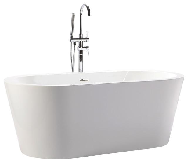 Helixbath Pella Freestanding Acrylic Bathtub 63 White W