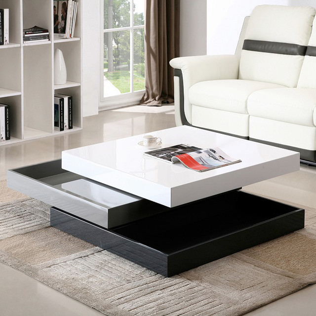 J&M Furniture Modern Coffee Table CW01 In White High Gloss