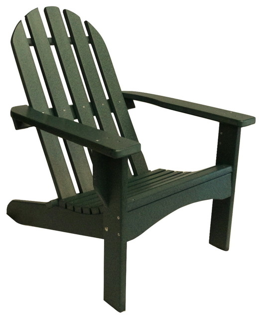 Poly Adirondack Chair Casual Design Green Contemporary Adirondack Chairs