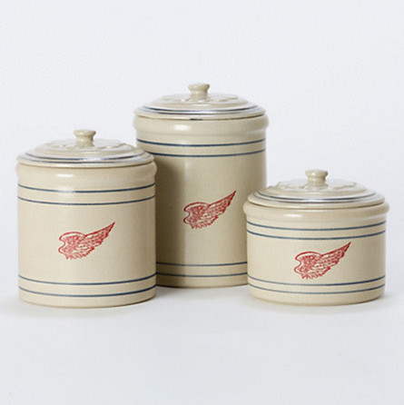 wing stoneware canisters traditional kitchen canisters and jars by terrain
