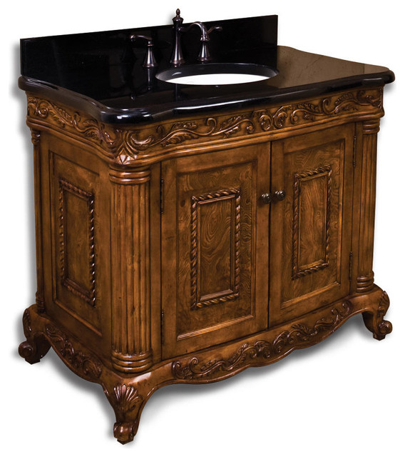 40 Burled Ornate Vanity Traditional Bathroom Vanities And Sink Consoles By Signature Hardware
