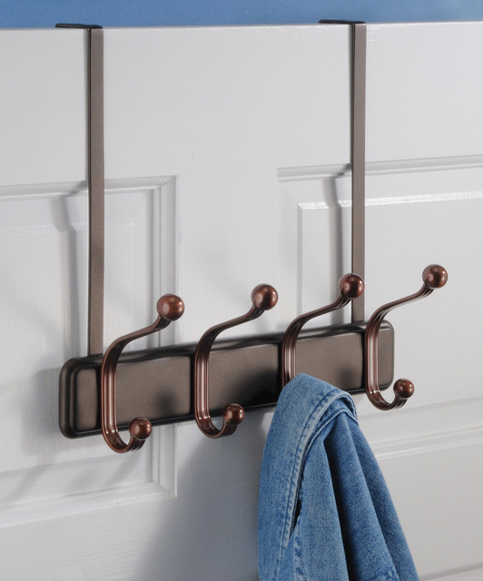 Bronze Over The Door Hook Rack Contemporary Robe Towel Hooks By Z