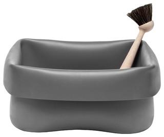 washing up bowl sp lbecken mit b rste grau normann. Black Bedroom Furniture Sets. Home Design Ideas
