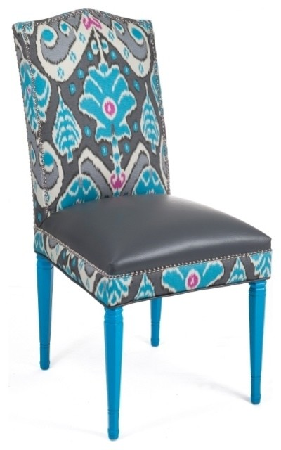 Loni M Designs Valentino Teal Dining Side Chair with Teal