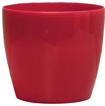 Sangria Red Plastic Planter Stylish 12 Contemporary