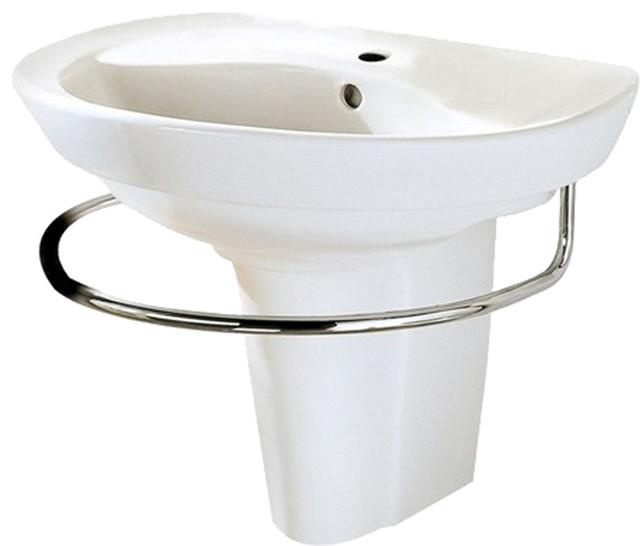 ... Pedestal Leg, White - Contemporary - Bathroom Sinks - by PlumbersStock